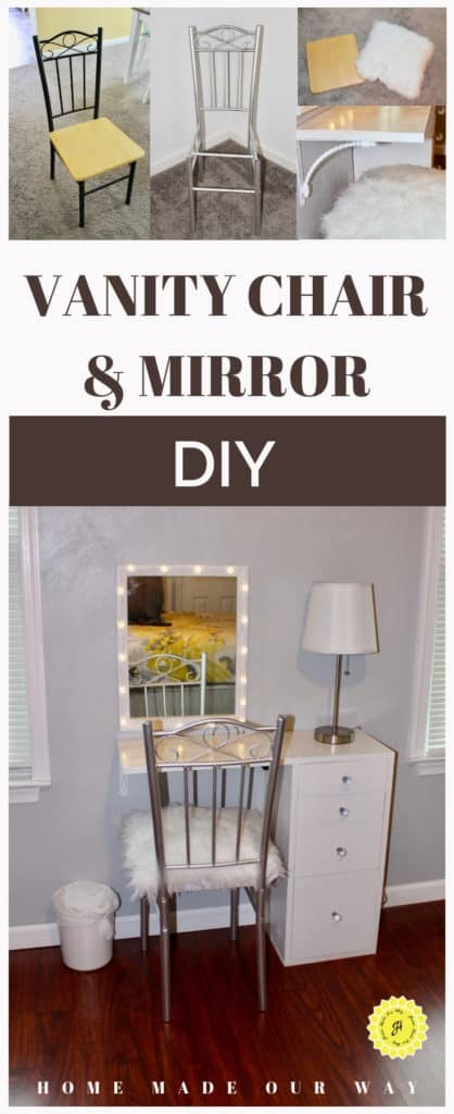 pin image for vanity chair and mirror diy post