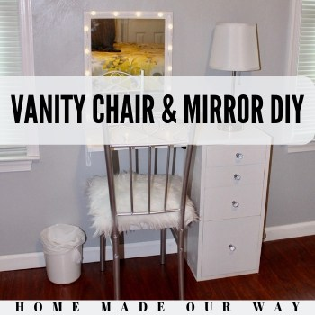 Vanity Chair and Mirror DIY – Putting Together a Small Vanity