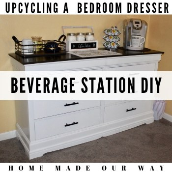 How to Convert an Old Dresser into a Beverage Station & More