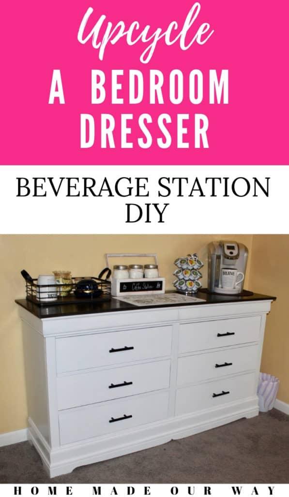 pin image for dresser to beverage station diy post