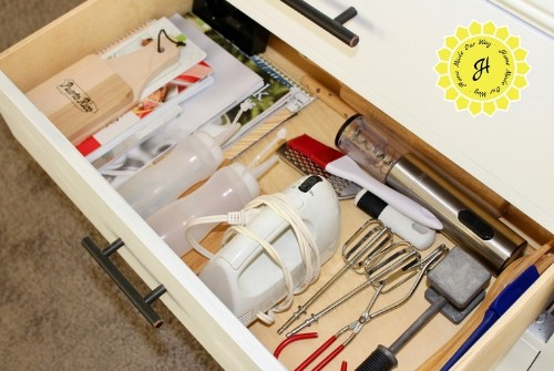 drawer with kitchen gadgets