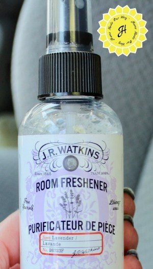 Bottle of J.R. Watkins room freshener