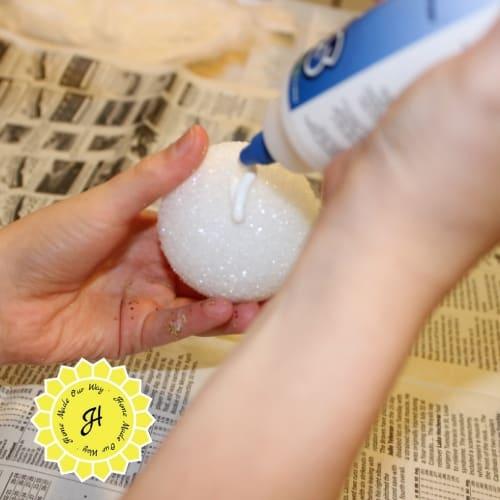 styroglue on styrofoam ball