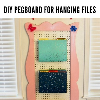 DIY Pegboard for Hanging Files – A Pretty Space-Saver