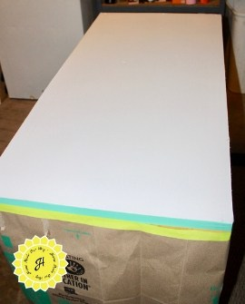 table top painted white