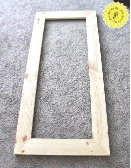frame for DIY Pegboard for Hanging Files