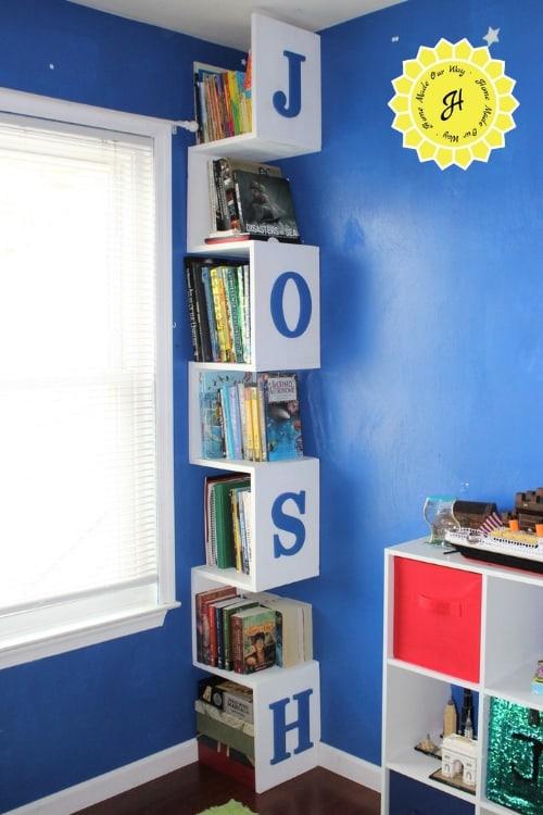 vertical bookshelf tower for Josh