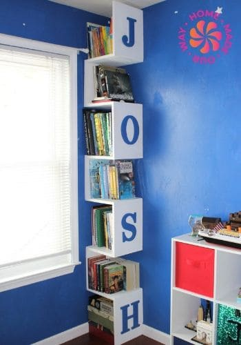 image of a vertical corner bookshelf