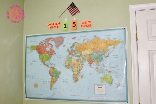 image of homeschool map and flag