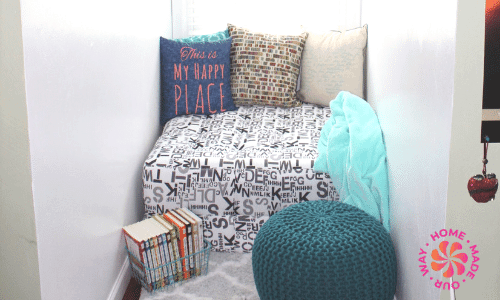 image of a homeschool reading nook