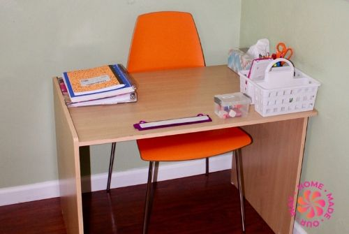 image of student desk