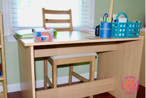 image of student desk