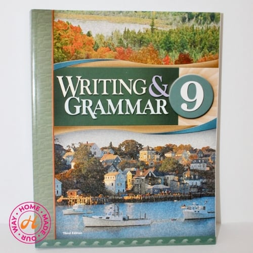 9th grade writing and grammar textbook for homeschool by bju press