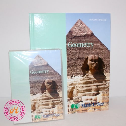 MathUSee geometry textbook and dvd for 9th grade homeschool curriculum