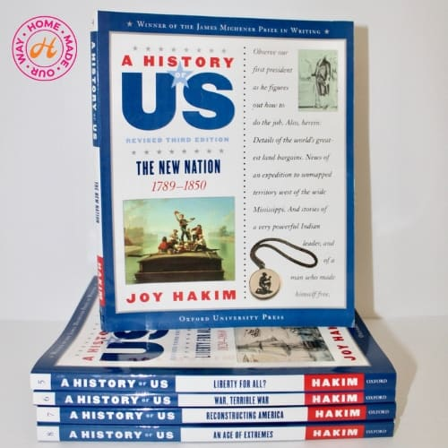 U.S. history textbooks for 9th grade homeschool curriculum by Joy Hakim