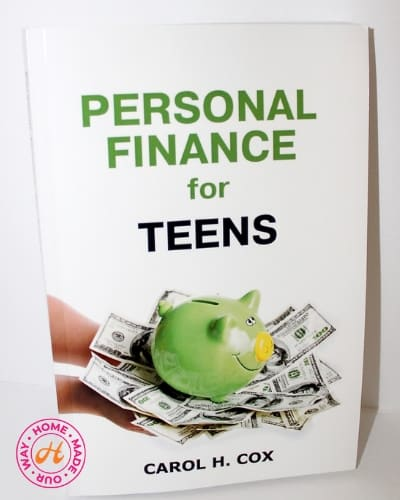 personal finance for teens book by carol h. cox for 9th grade homeschool curriculum