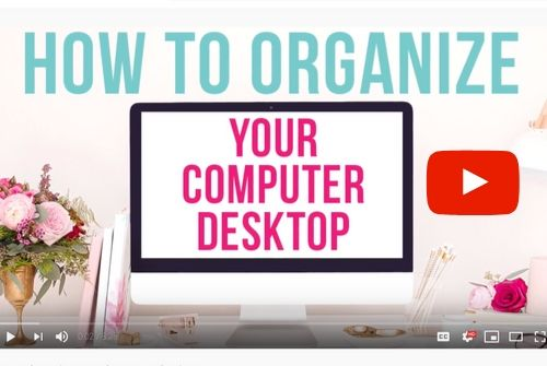 image of youtube video for designing a desktop organizer