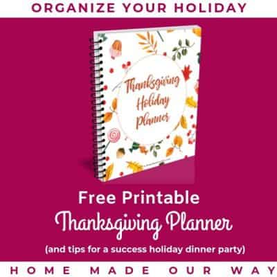 Free Thanksgiving Planner and Tips for Organizing a Successful Dinner