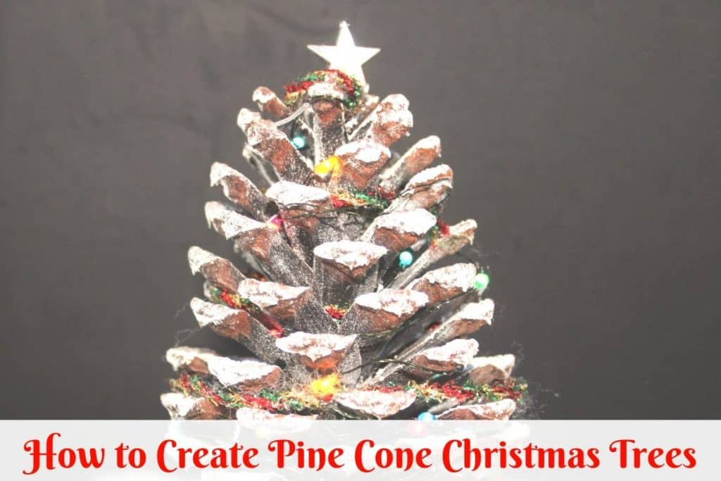 image of pine cone christmas tree