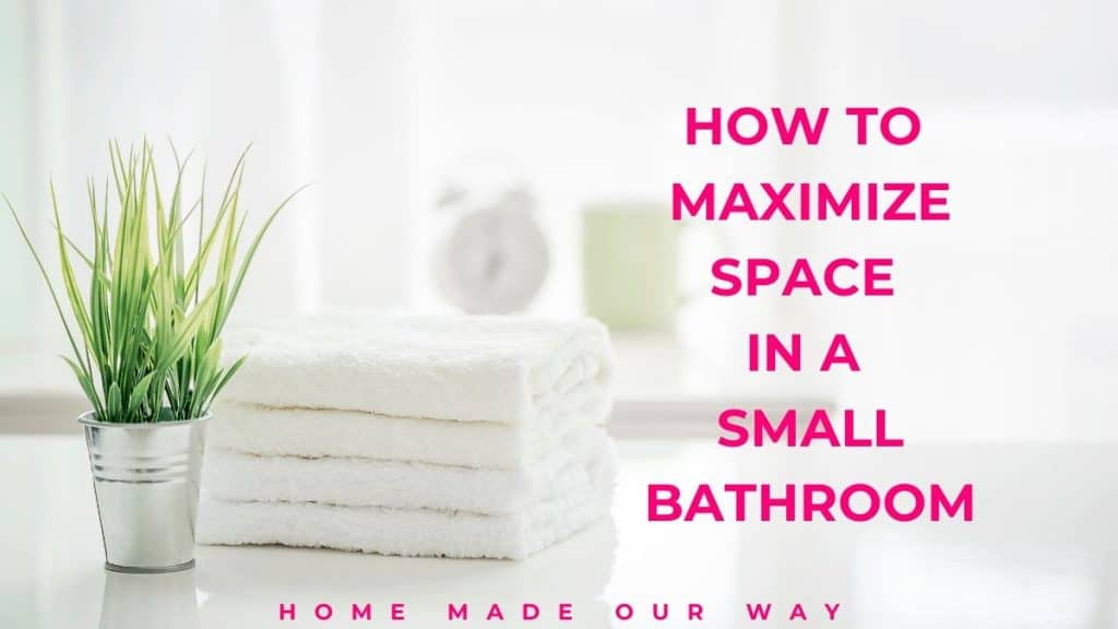image for post on maximizing space in a small bathroom.