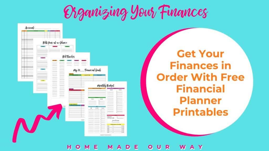 pin image for free financial planner