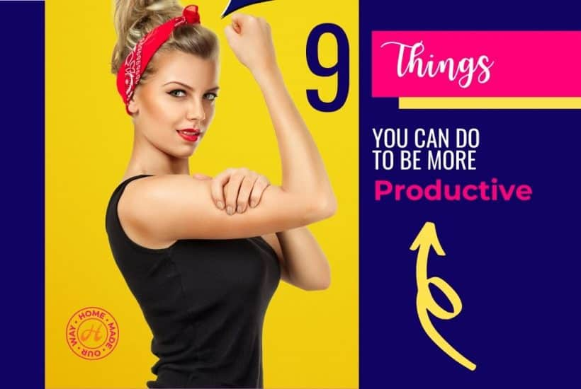image of rosie the riveter model for how to be more productive post