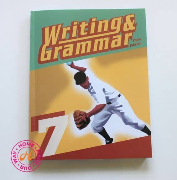 image of bju press english writing and grammar workbook for 7th grade homeschool