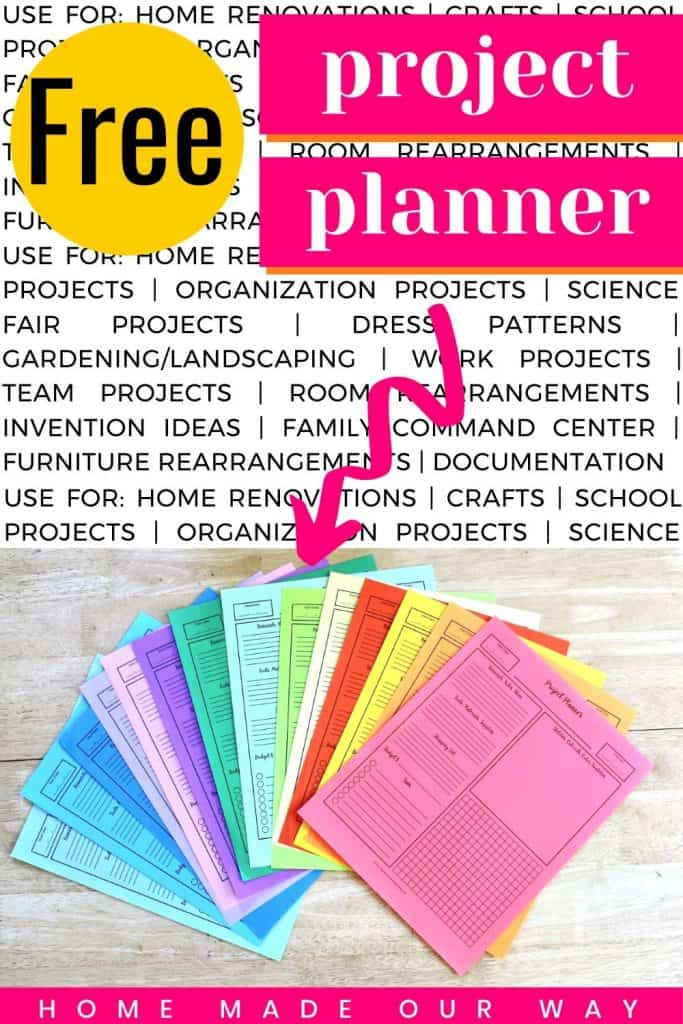 pin image for project planner post