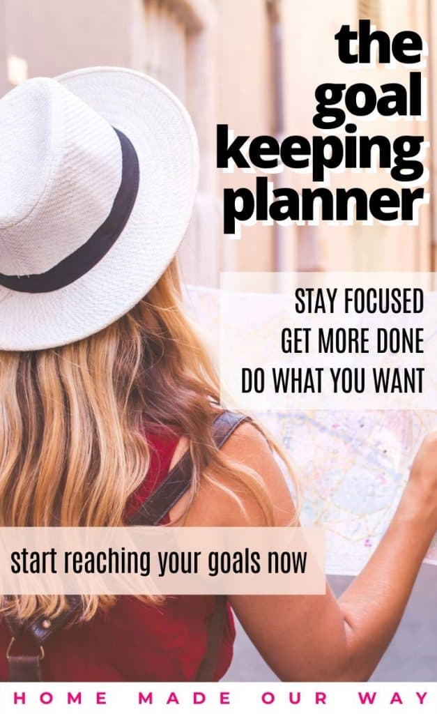 pin image for goal setting and goal keeping planner post