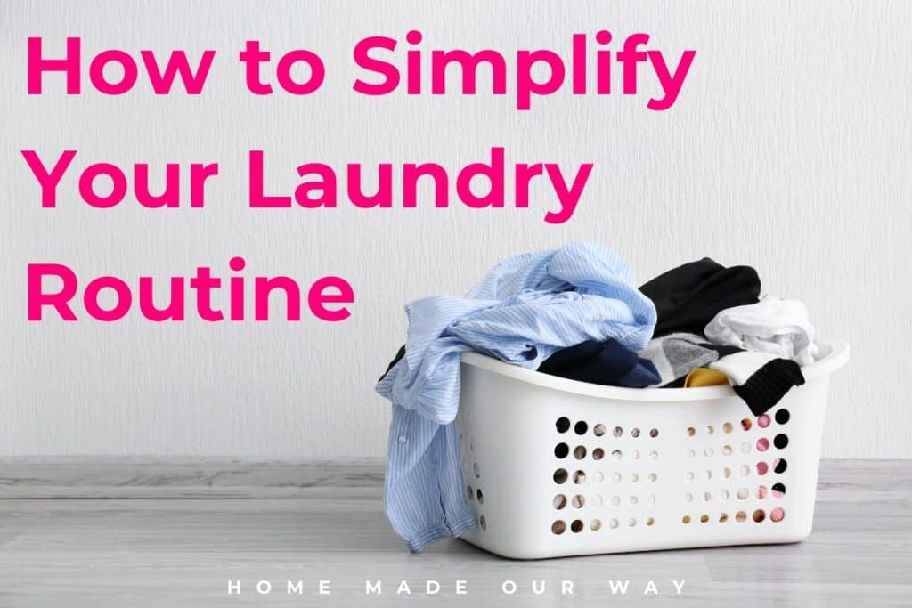 feature image for how to simplify your laundry routine post