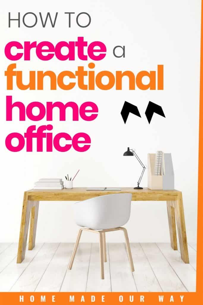 pin image for creating a functional home office post