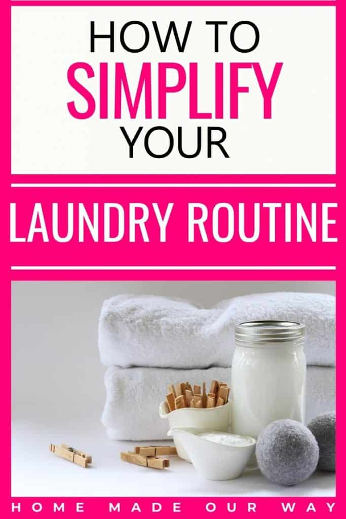 pin image for simplifying laundry routine post