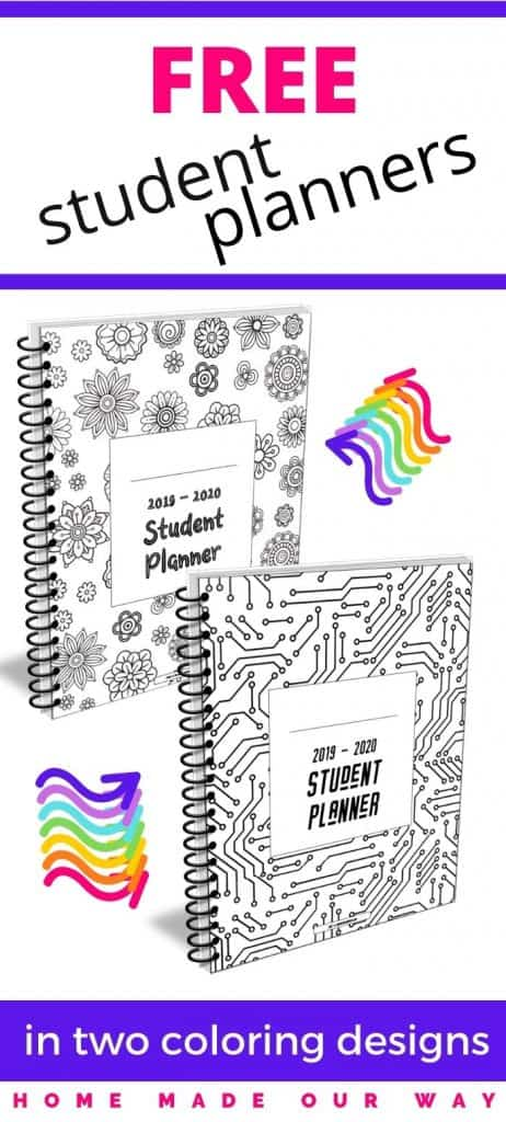 pin image for student planner post