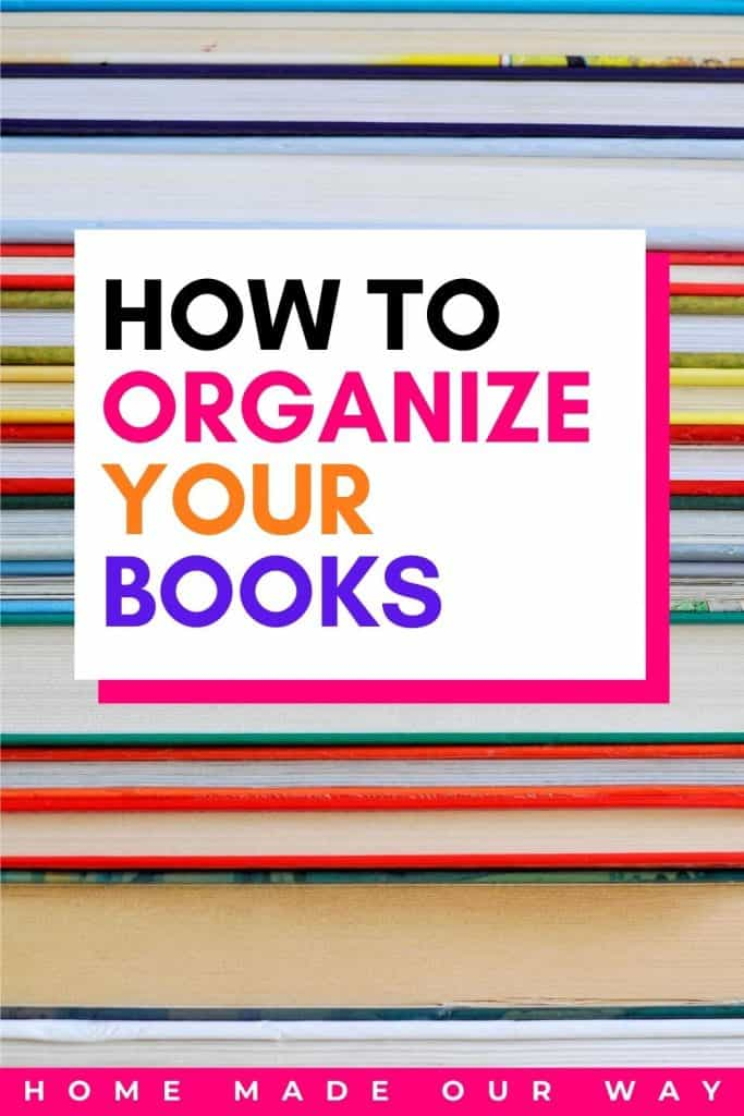 pin image for book organization post