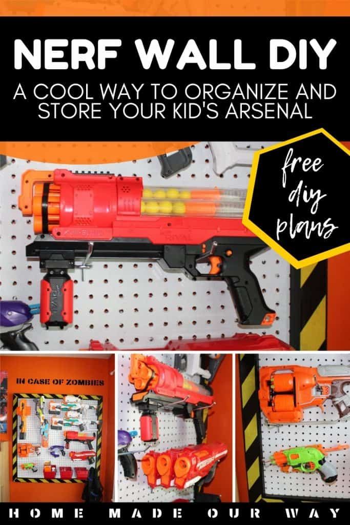 pin image for Nerf Wall DIY