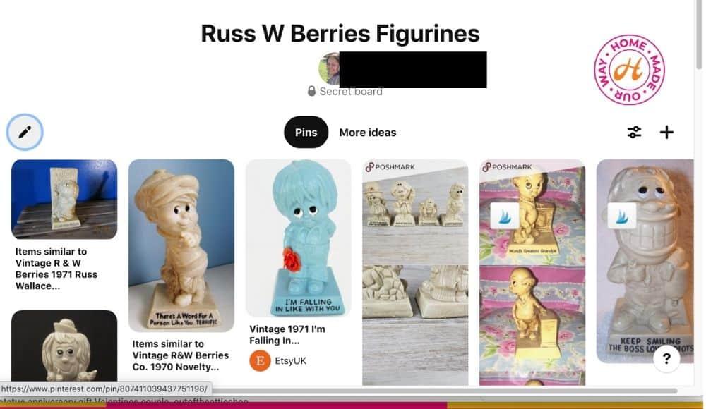 russ w berries figurines on secret Pinterest board
