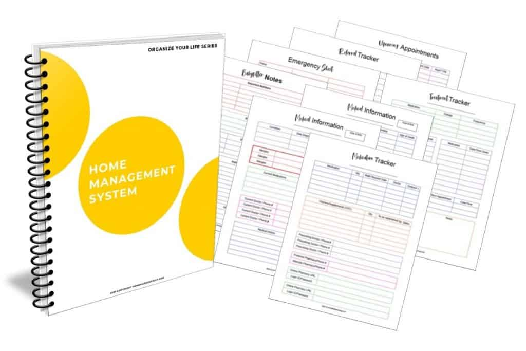 image of home management system and medical history printables