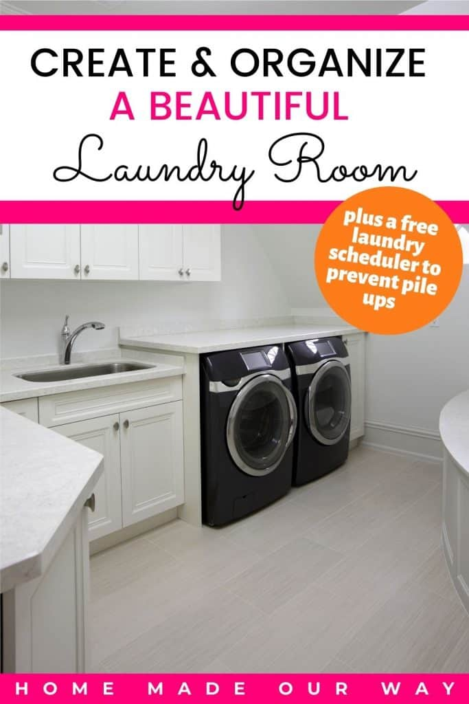 pin image for laundry room organization