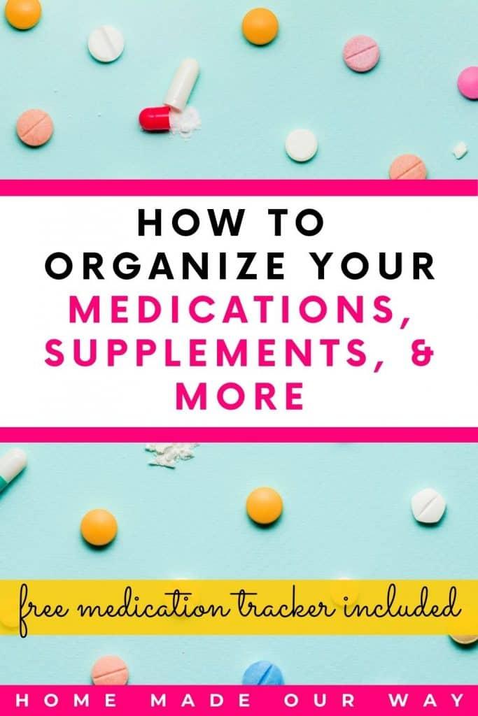 pin image for medication organization post