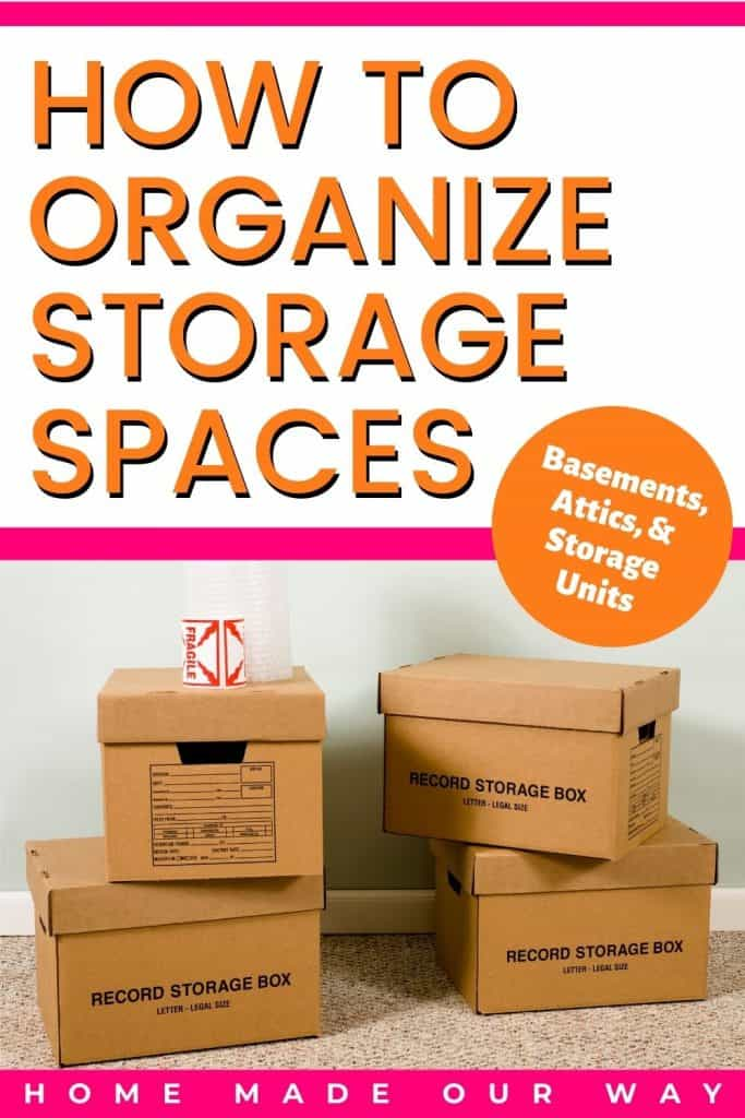 pin image for how to organize storage spaces post