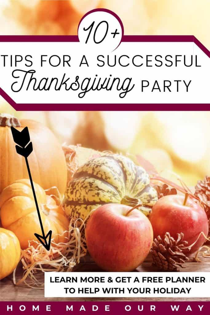 pin image for tips on a successful Thanksgiving holiday post